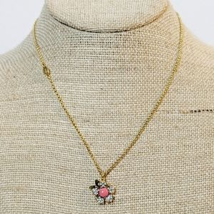Juicy Couture Rhinestone Gold Flower Necklace